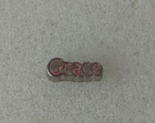 Floating charm for living lockets Baby Grace pink birthday Grad Christmas gift