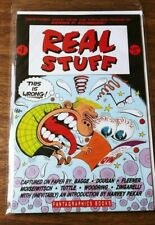 REAL STUFF #1 COMIC BOOK. FANTAGRAPHICS BOOKS FIRST EDITION. BAGGE/FLEENER ETC.