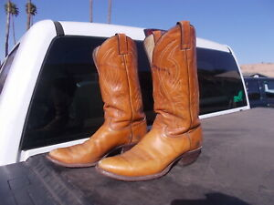 Used Justin distressed Western Cowboy Boots Mens   10 D  Style 1632