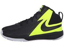 Nike Basketball Sneakers  Team Hustle Black/Volt/White Little Boys Size 12