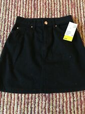 Girls Black Denim Skirt By H&M Size 8 Brand New With Tags