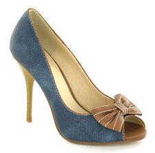 Spot On Women's Peep Toe Shoes