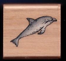 DOLPHIN Sea Life Ocean Mammal NEW SMALL Wood Mount CRAFT RUBBER STAMP