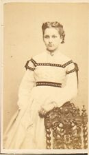 GENEALOGIE NOBLESSE PHOTO CDV MME DE BORDE CHARLES CAREY PHOTOGRAPHE PARIS