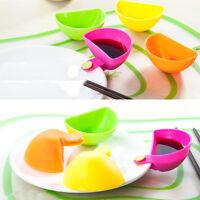 4× Einzelne Gerichte gewürzten Teller Kreative-Multi-Use-Clamp Salat Würzen Box