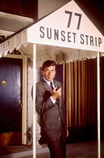 Efrem Zimbalist Jr. 77 Sunset Strip  posing under awning 11x17 Mini Poster