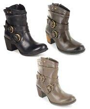 Hush Puppies Zip Block 100% Leather Upper Shoes for Women