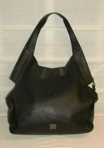 Kooba Black Leather Oakland Hobo Style GK1371/08R Shoulder Handbag Purse $178 NW
