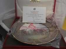 1987 BOXED LTD ED SPODE ARMADA COLLECTION PLATE NO 1 A GAME OF BOWLS