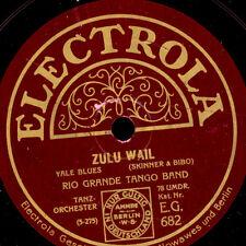 Rio Grande Tango Bande Zoulou Wail/A Blue serenade GOMME LAQUE PLAQUE 78 tr/min s8947