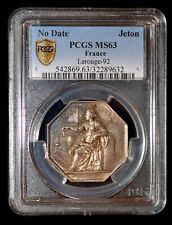 PCGS MS63 France Argent Delasalle Lerouge-92 Beau Tonifiant