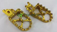 Pedane maggiorate color ORO ergal CNC alluminio per HONDA CRF250 CRF 250 04-14