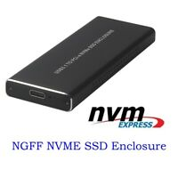 SSD Hard Disk Drive Case NVMe PCIE USB3.1 HDD Enclosure M.2 to USB Type C 3.1
