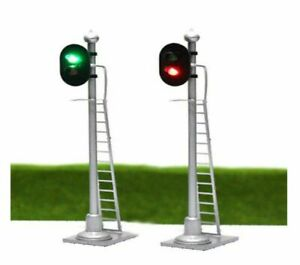 00 Model Railway Red Green 2 Aspect Light Signal 12 VOLT DC OO GAUGE Pre Wired