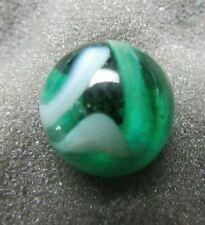 "Rare Heaton Agate Transparent Swirl Green/White 5/8"""