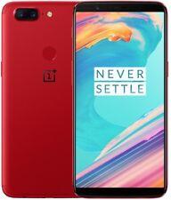 "Oneplus 5T A5010 Dual Sim 128GB 8GB 6"" Unlocked Android Smartphone NEU - Rot"