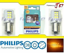 Philips Ultinon LED Light Bulb 1156 Amber Orange Turn Signal Tail Side Marker OE