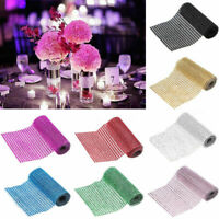 24 row Crystal Diamante Sparkly Mesh Ribbon BLING Trim Wedding Party Cake Decor