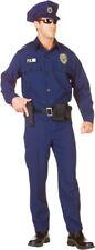 Morris Costumes Men's Policeman Complete Costume Navy Blue 2XL. UR29433XXL