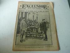 journal Excelsior 04 05 1915  blessé sur une civière décoré par Gal auger 14-18