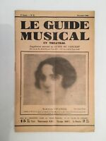 Le Guide du Musical supplément mensuel au Guide du concert Marcelle Gavanier1928