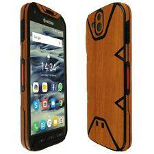 Skinomi Light Wood Skin+Clear Screen Protector for Kyocera DuraForce PRO