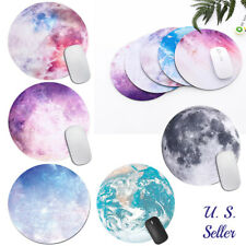 Non Slip Space Round Mouse Pad Mice Mat For Laptop Notebook Computer PC Gaming