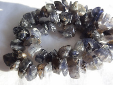 """16"""" Strand Natural Iolite Chip Stone Beads 5.5-17mm Wide #A567 DNG"""