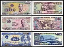Vietnam (1988-91) Set of 3 Unc Banknotes