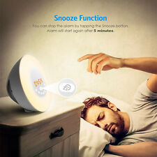 Wake Up Light Alarm Clock Sunrise Simulation Dusk Fading Night Light with Nature