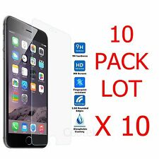 10x Wholesale Lot Tempered Glass Screen Protector for Apple iPhone 6s Plus