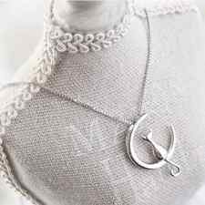 925 Silver Fashion Jewelry Cat Moon Pendant & Necklace.