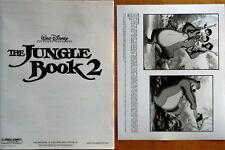"""WALT DISNEY'S - THE JUNGLE BOOK 2 - 22 PAGE MEDIA BOOKLET + 8 X 10"""" B&W STILL"""