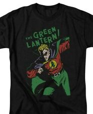 Green Lantern T-shirt retro 60s DC comic book cartoon superhero black tee DCO809