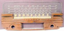 vintage  WARD'S AIRLINE 62-2708-A Radio: BAKELITE HOLDER & GLASS STATION GRAPHIC