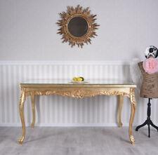 Esstisch Gold Tisch Barock Esszimmertisch Barocktisch Glasplatte Dining Table