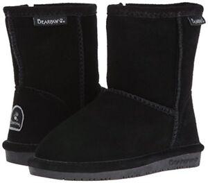 Toddler Bearpaw Emma Boot 608T Zipper Black II Suede 100% Authentic Brand New