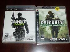 2 game lot Call of Duty: Modern Warfare 3 + 4 (Sony PlayStation 3, 2011) ps3