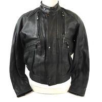 Harley-Davidson Leather Jacket Mens Black Sz 42 L Biker Motorcycle