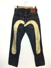 EVISU Jeans Denim Straight Pants Indigo Size 30 Used From Japan