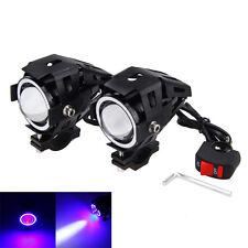 2x 125W Motorbike Motorcycle U7 LED Headlight Driving Fog Spot Light Lamp