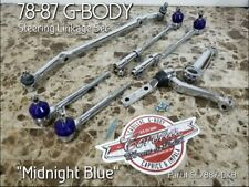 BRAND NEW Chrome Steering Linkage Dark BLUE Set 78-88 G-Body Regal,Cutlass,Monte