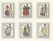 LATVIA # 343-348 MNH TRADITIONAL COSTUMES 1993