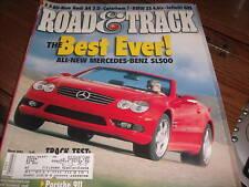 Road & Track March 2002 Mercedes-Benz SL500