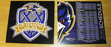 Baltimore Ravens Magnet Shield and Magnet Schedule