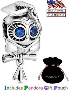 New Authentic PANDORA Sterling Silver S925 ALE Wise Owl  Graduation Charm