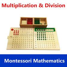 Educational Toy Montessori Mathematics Math Bead Board Multiplication Division
