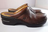 Womens Born Mules Brown Leather Slip On Shoes Size 40.5 / 9 M