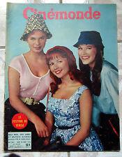 CINEMONDE 1956 CINEMA ACTEUR ACTRICE BARDOT S. LAUREN COOPER GABIN BOURVIL