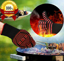 Silicone BBQ Gloves Heat Resistant Grill Kichen Cooking Oven Mitts 1 Pack
